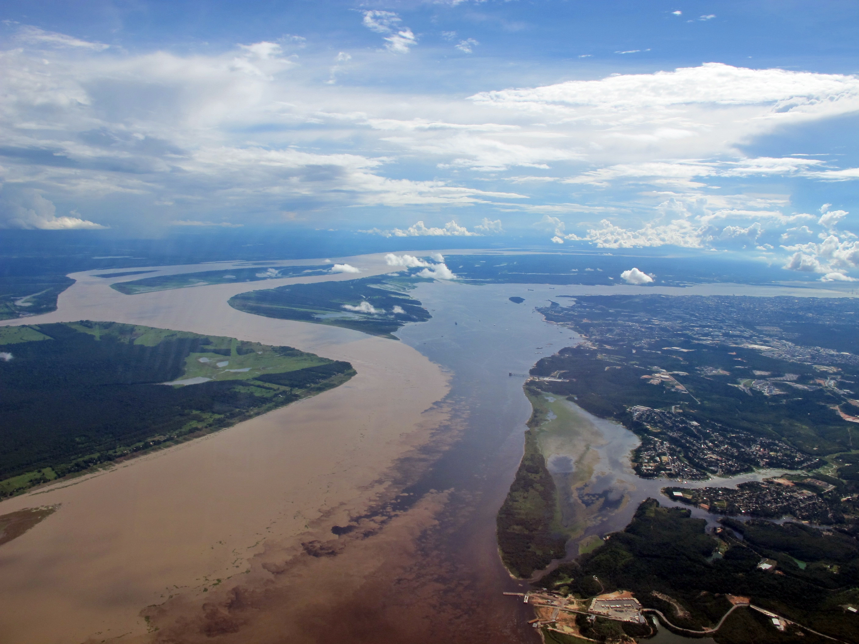 is the capital city of the state of Amazonas in the North Region of Brazil. It is situated near the confluence of the Negro and Solimões rivers.